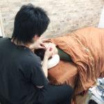 鍼治療の風景